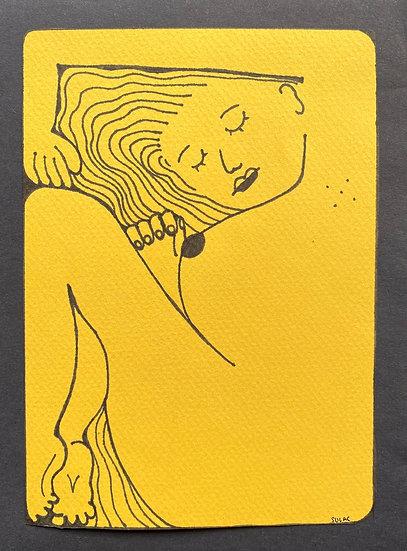 """""""Sleeping Woman"""" (6x8)"""