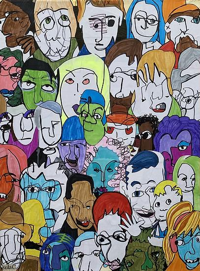 """""""A Jury of My Peers"""" (18x24)"""