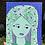 "Thumbnail: ""Greta the Grape Girl"" 11x14"