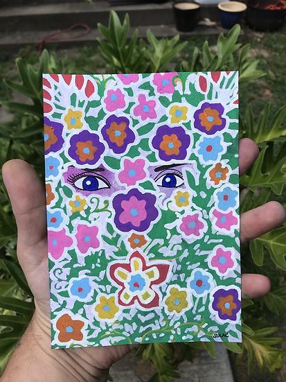 """Flower Lady"" (5x7)"