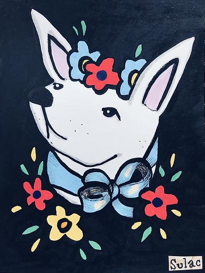 """""""Flower Bunny"""" (6x8)"""