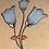 "Thumbnail: ""Blue Flower Face"" (6x8)"