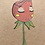 """Thumbnail: """"Red Flower Face"""" (5x7)"""
