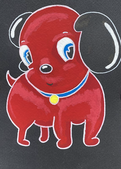 """Jelly Dog"" (6x8)"