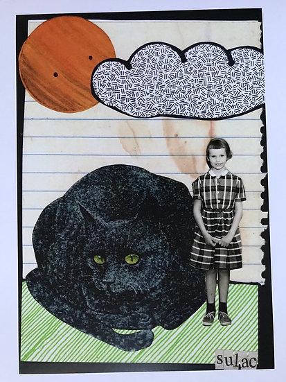 """""""Linda's Cat"""" (8x10) - Print"""