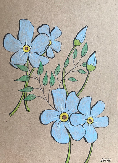 """""""Forget-Me-Nots"""" (6x8)"""