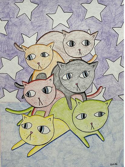 """""""Acro-Cats"""" (6x8)"""