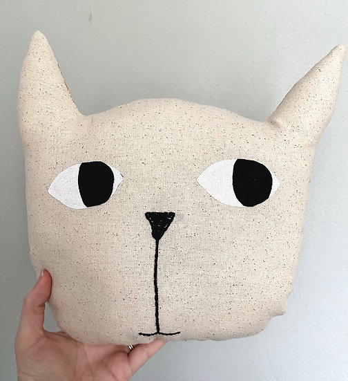 Cat Head Pillow