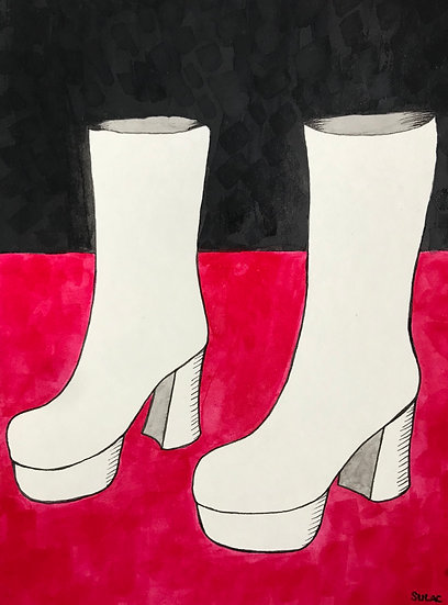 """Go Go Boots"" (6x8)"