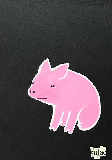"""Piggy Smalls"" (5x7)"