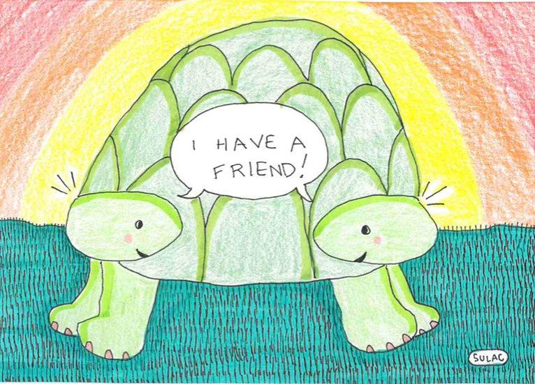 """""""Happy Turtle Twins"""" (6x8)"""
