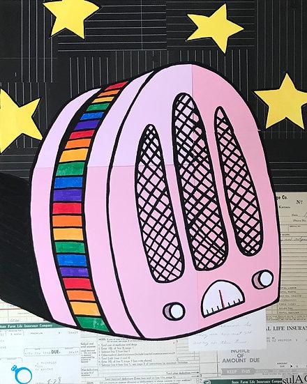 """Rainbow Radio"" (11x17) - Print"