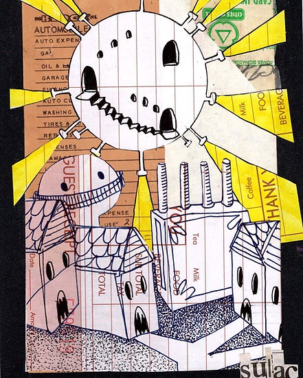 """The Night Of The Flying Bathysphere"" (8x10) - Print"