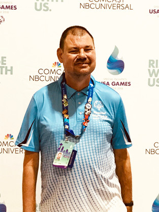 Wayne County's Scott Britt at the Special Olympics U.S.A. in Seattle