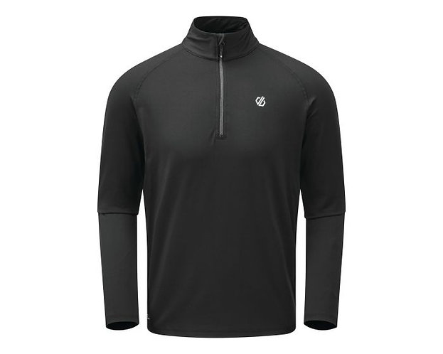 Mens half zip stretch mid layer