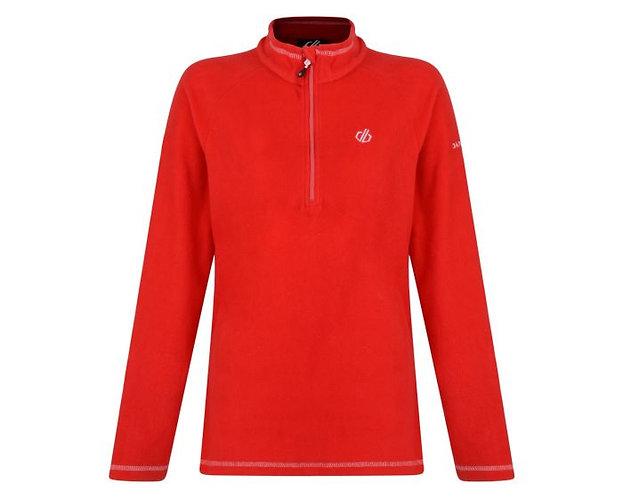 Ladies half zip fleece, Red
