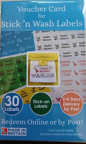 Printed name labels - stick 'n wash