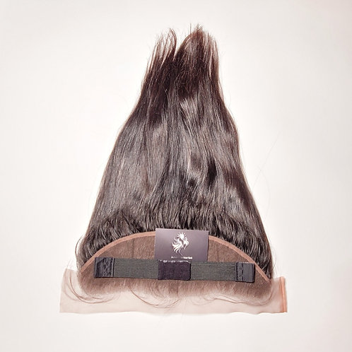 """13""""x4"""" Frontal - Cambodian Natural Straight 16"""" Length"""