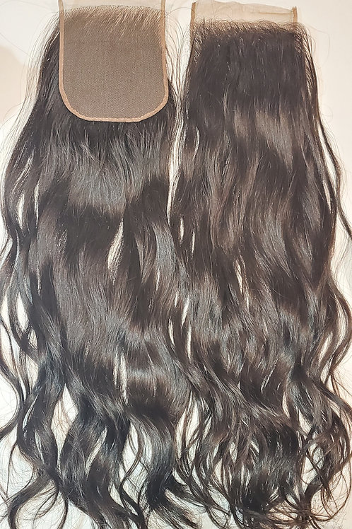 "5""x5"" Closure - Cambodian Natural Straight 16"" Length"