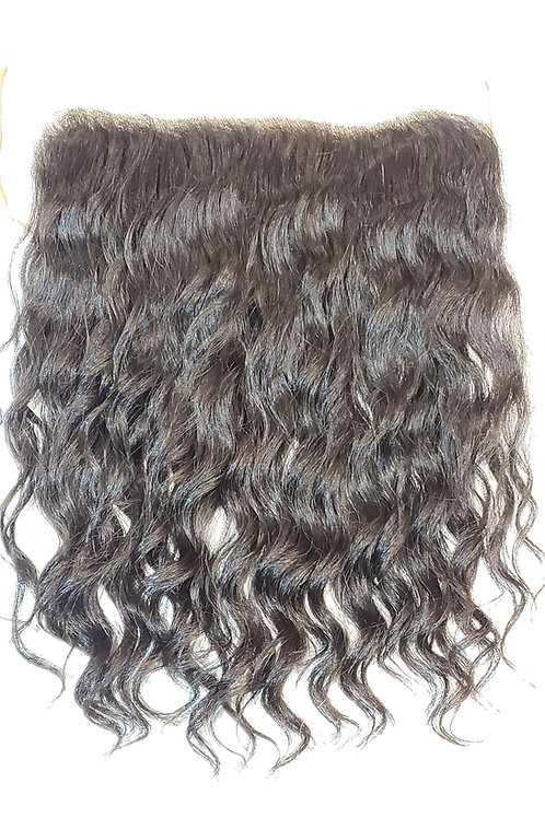 """13""""x4"""" Frontal - Cambodian Natural Wave 16"""" Length"""