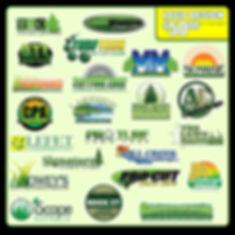 lawn care landscaping landscape logo design