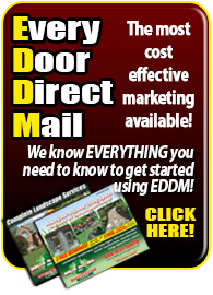 EDDM postcards for your lawn care and  landscape business