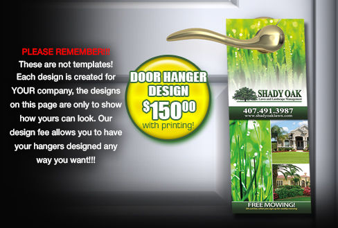 door hangers for your lawn and landscape business