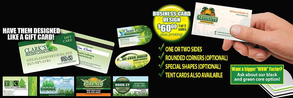 business cards for your lawn and landscaping business