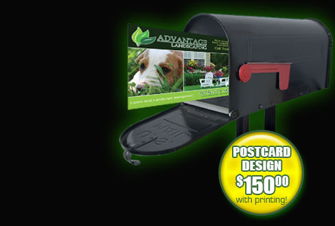 postcards and direct mail for your lawn and landscaping business