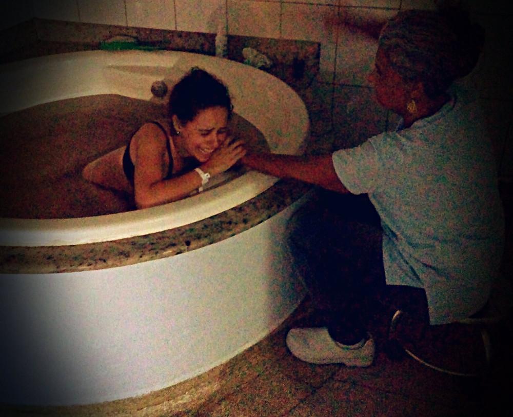Contracao na banheira