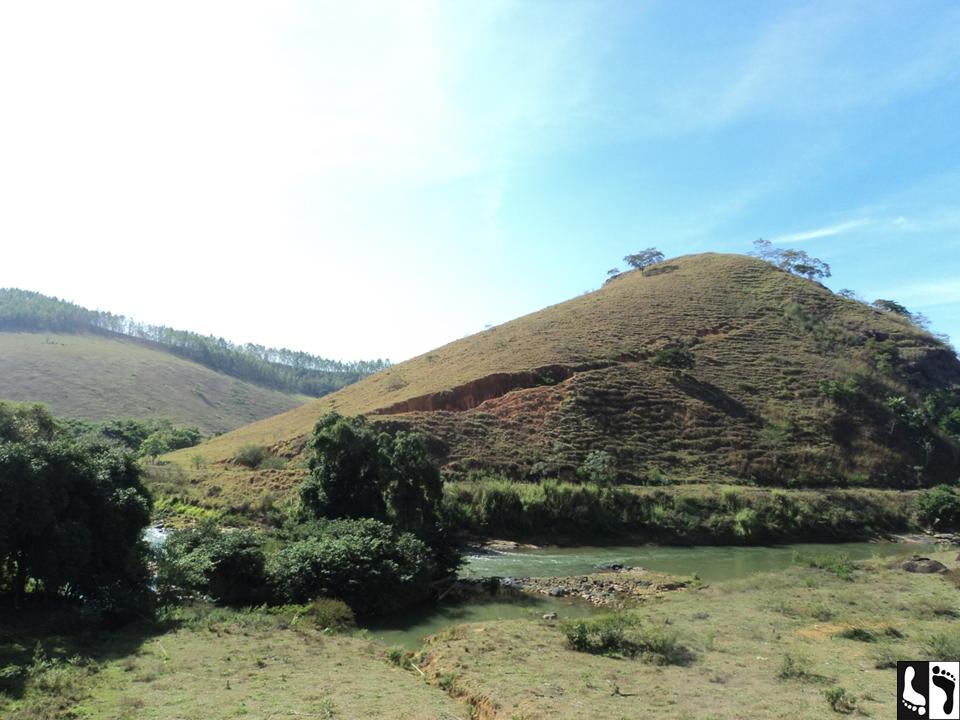 Uma das belas paisagens que vimos durante o caminho