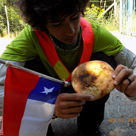 Tortilha com rescoldo, no Chile