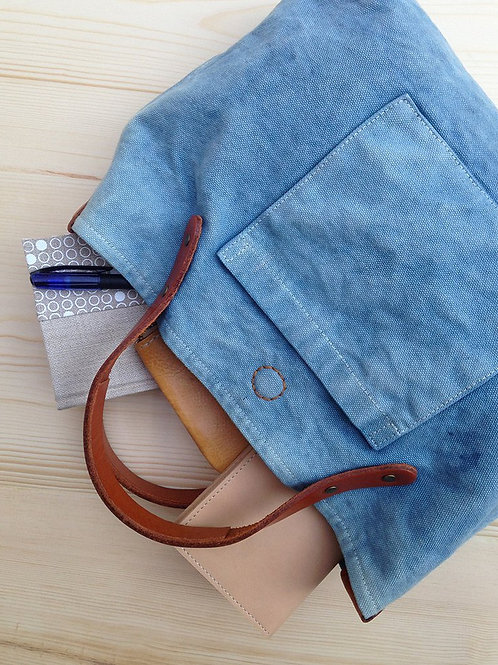 Rectangle dyed canvas tote (S)