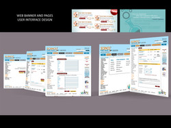 web pages and banner