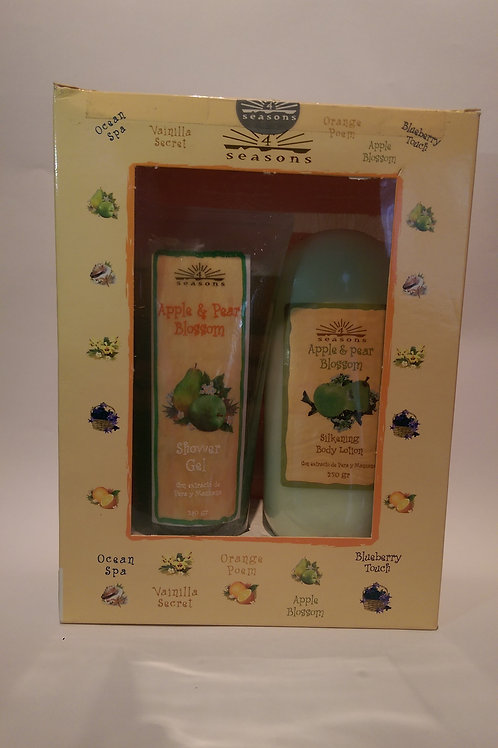 Estuche Silkening + Shower Gel Apple & Pear Blossom - 4 Seasons