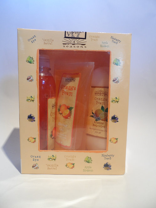 Estuche Silkening + Shower Gel + Splash Orange Poem - 4 Seasons