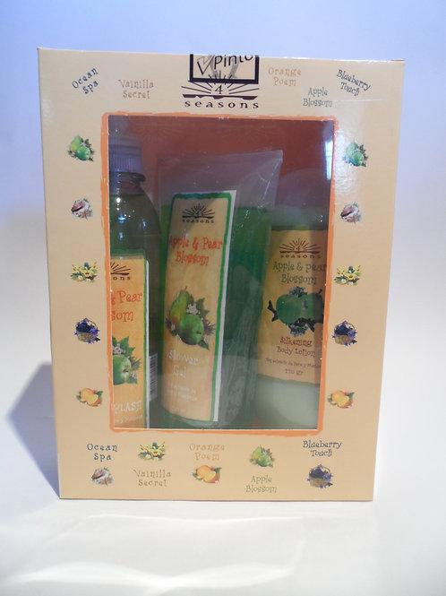 Estuche Silkening + Shower Gel + Splash Apple & Pear Blossom - 4 Seasons