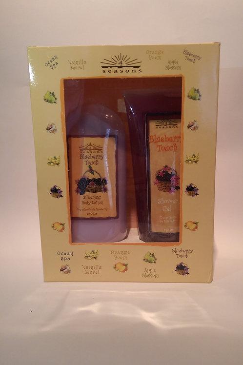 Estuche Silkening + Shower Gel Blueberry Touch - 4 Seasons