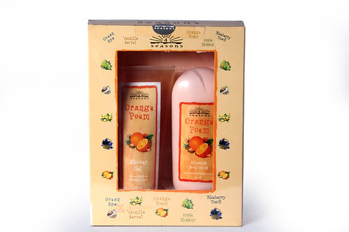 Estuche Silkening + Shower Gel Orange Poem - 4 Seasons