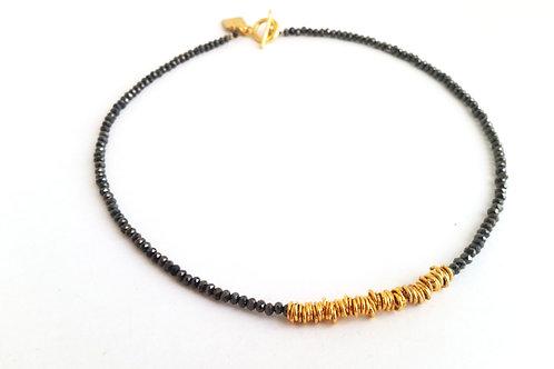 שרשרת WOW-זהב ושחור