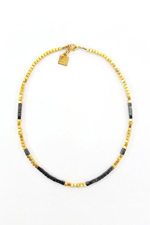 שרשרת SAHARA- זהב ואפור מטאלי