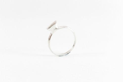 טבעת FLAT DIAMOND- כסף 925