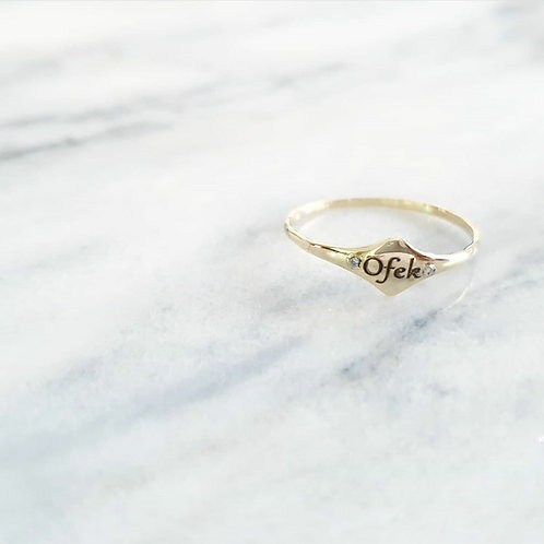 טבעת מעויין- זהב