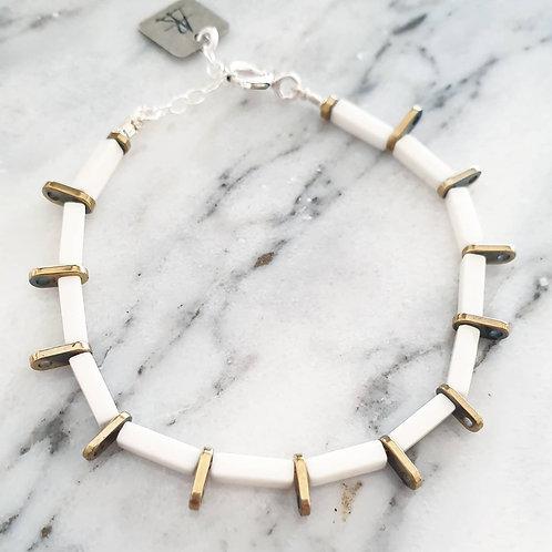 צמיד SUNSHINE- לבן וזהב