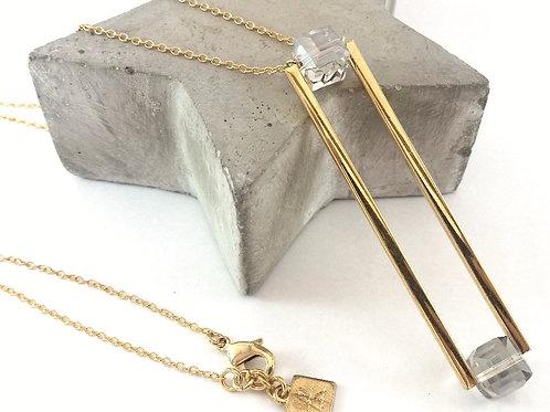 שרשרת VERTIGO- זהב וקריסטל