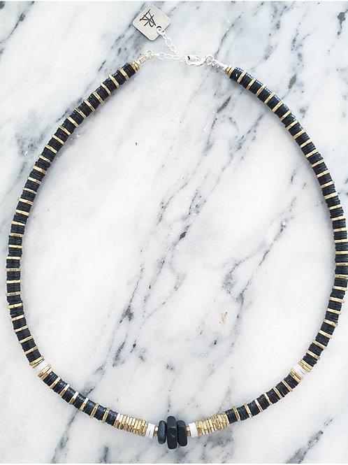 שרשרת BOHO- שחור וזהב