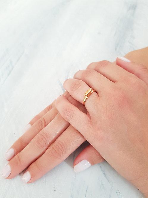 טבעת FLAT DIAMOND- זהב