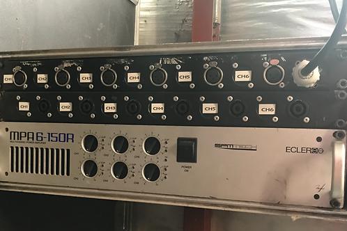 Amplificateur rack  Ecler 6 cannaux