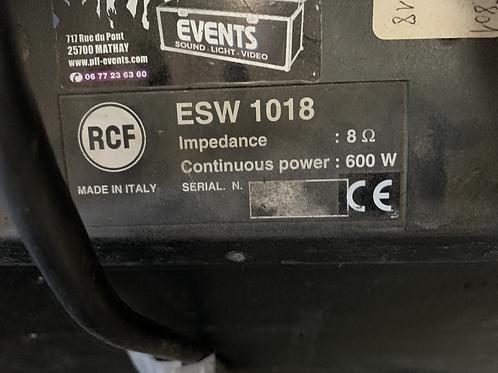 ENCEINTE ESW 10/18 RCF
