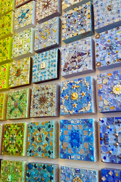 #Treasure Tile Installation - Blue_Greens